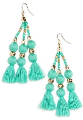 BP Tassel & Sphere Drop Earrings