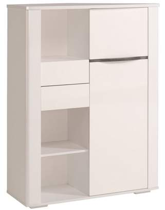 URBAN RESEARCH Parisot Ceram High Gloss White Credenza Cabinet with Drawers and