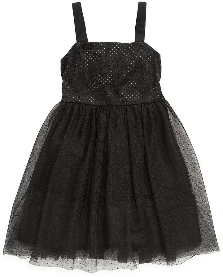 Ruby Rox Girls Dress, Girls Glitter-Dot Tulle Party Dress
