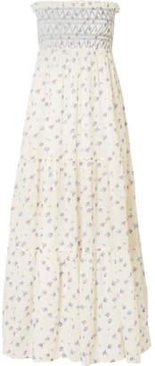 Vanessa Bruno - Embroidered Printed Cotton-gauze Maxi Dress - Ivory