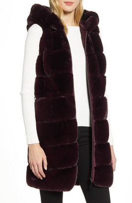 Via Spiga Faux Fur Hooded Vest