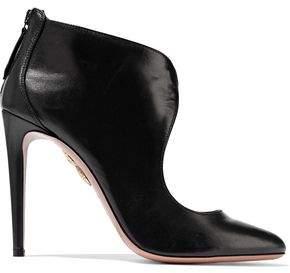 Aquazzura Ella Cutout Leather Ankle Boots