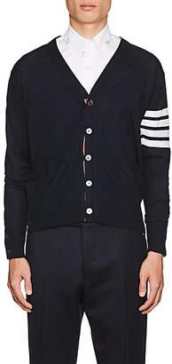 Thom Browne Men's Block-Striped Wool Cardigan - Navy