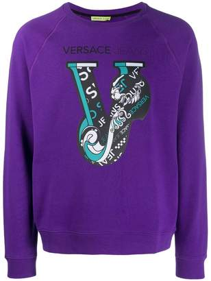 Versace V logo sweater