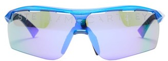 Stella McCartney Turbo Reflective Lens Sunglasses - Womens - Blue