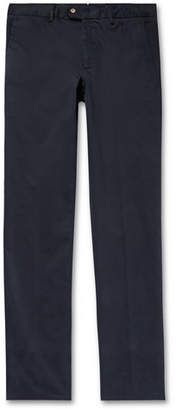 Caruso Brushed Stretch-Cotton Trousers