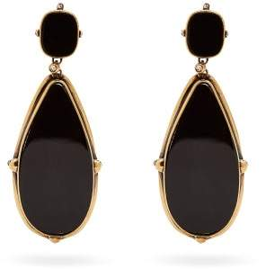 Alexander McQueen Skull Resin Drop Earrings - Womens - Black