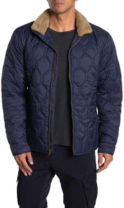 Weatherproof Quilted Nylon Faux Shearling Collar Zip Jacket