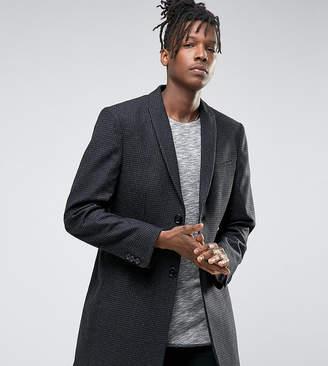 Noak Skinny Smart Overcoat in Dogstooth