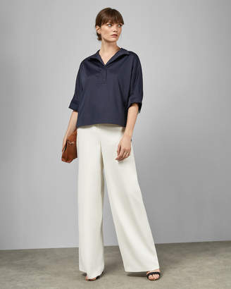 Ted Baker AVEREYE Wide neck cotton batwing blouse