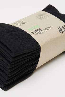 H&M 5-pack Sports Socks - Black