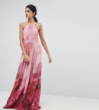 Little Mistress Tall High Neck Full Bloom Floral Maxi Dress