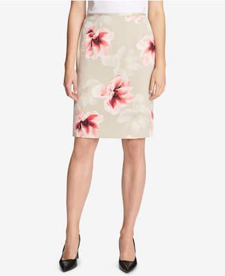 Calvin Klein Floral-Print Pencil Skirt