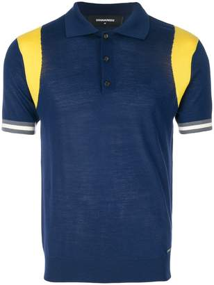 DSQUARED2 knitted polo shirt
