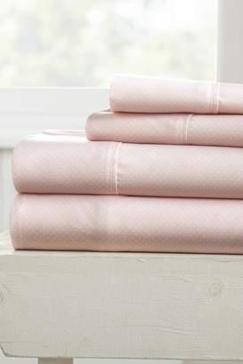 IENJOY HOME Our Elegant My Heart Pattern 4-Piece Sheet Set - Pink - Queen