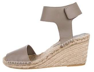 Vince Leather Wedge Espadrilles