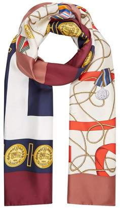 Burberry Medal Print Scarf