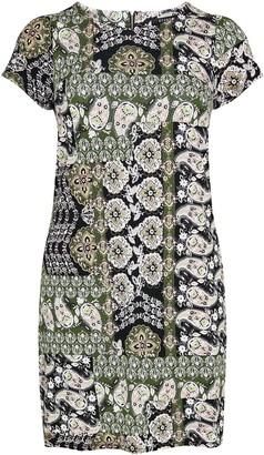 Evans Khaki Printed Jersey Swing Dress