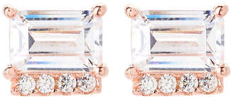 Crislu 18K Rose Gold Sterling Silver Stud Earrings