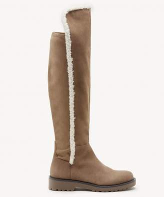 Sole Society Juno Faux Shearling Stretch Boot