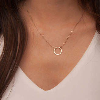 Lulu + Belle Gold Or Silver Hammered Karma Disc Necklace