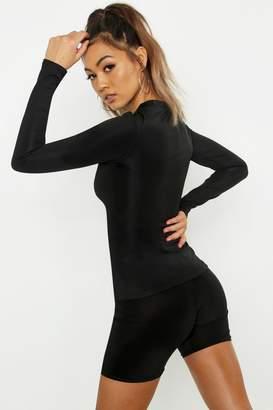 boohoo Fit Long Sleeve Gym Top