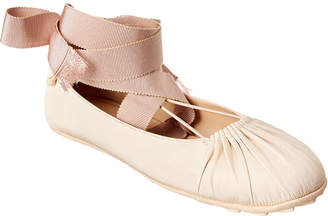 Christian Dior Lace-Up Ballerina Flat