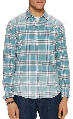 Scotch & Soda Bleached Plaid Relaxed Fit Shirt