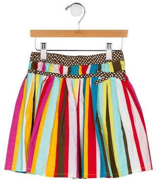 Oilily Girls' Striped Flared Skirt