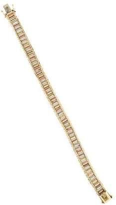 14K Textured Tri-color Bracelet