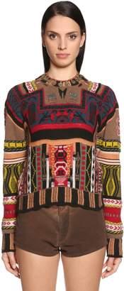 Etro Intarsia Wool & Cashmere Blend Sweater