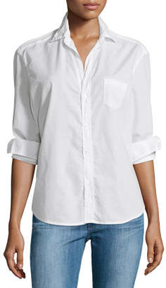 Frank And Eileen Eileen Button-Front Poplin Shirt, White