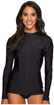 Speedo Zip Front Long Sleeve Rashguard Women's Swimwear