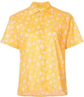 R 13 short-sleeve floral shirt