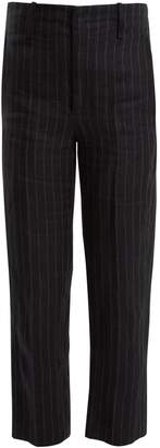 Etoile Isabel Marant Idini wide-leg striped linen trousers
