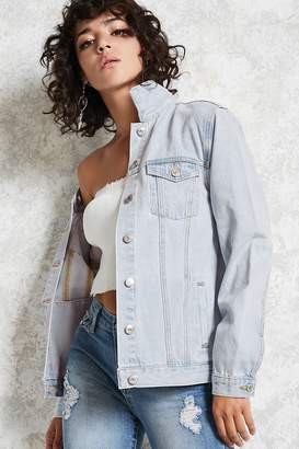 Forever 21 Frayed Denim Jacket