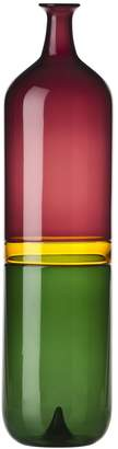 Venini Bolle Incalmo Tall Tri Color Vase
