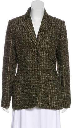 Saks Fifth Avenue Metallic-Accented Tweed Blazer
