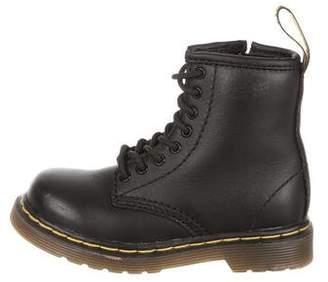 Dr. Martens Kids' Combat Leather Boots