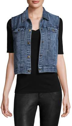 Three Dots Women's Denim Cotton Vest