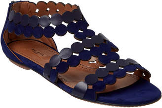 Alaia Lazer Cut Leather & Suede Sandal