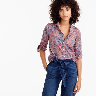 Club collar perfect shirt in Liberty Art Fabrics Felix & Isabella print $98 thestylecure.com