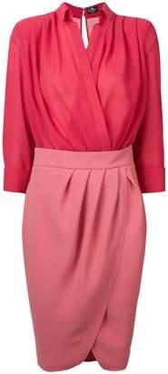Elisabetta Franchi colour-block midi dress