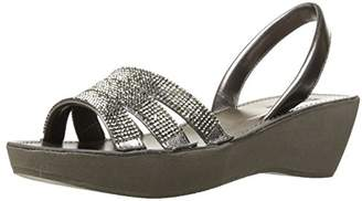 Kenneth Cole Reaction Women's Fine Platform Wedge Slingback Jeweled Sandal