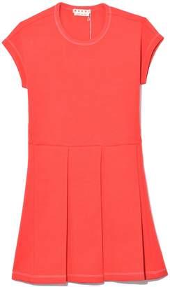 Marni Sleeveless Knit Dress in Orangered