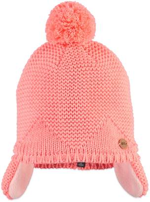 Babyface Ear Flap PomPom Beanie (Baby, Toddler, & Little Girls)