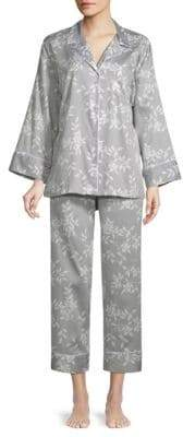 Natori Two-Piece Printed Cotton Pajama Set