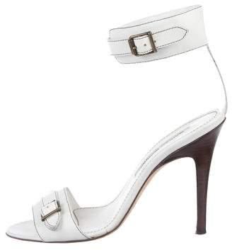 f97589c227a Manolo Blahnik White Heel Strap Sandals For Women - ShopStyle Australia