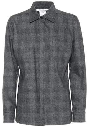 Max Mara Ranghi wool and cashmere checked shirt