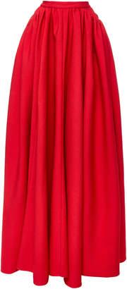 Emilia Wickstead Double-Faced Cloque Maxi Skirt
